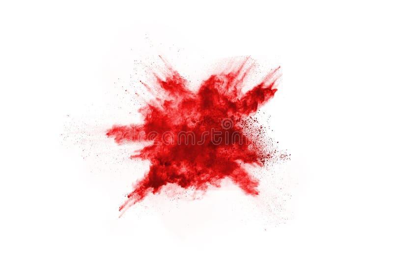 Abstrakcjonistyczny czerwień proszek splatted na białym tle, obraz stock