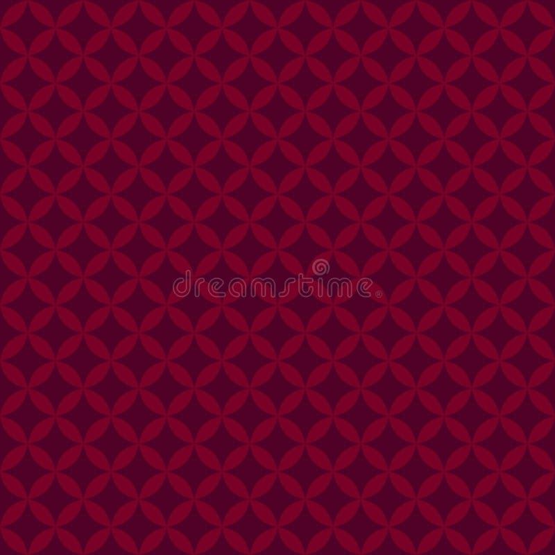 Abstrakcjonistyczny czerwony Geometryczny bezszwowy wzór dla rozprasza wektor ilustracji