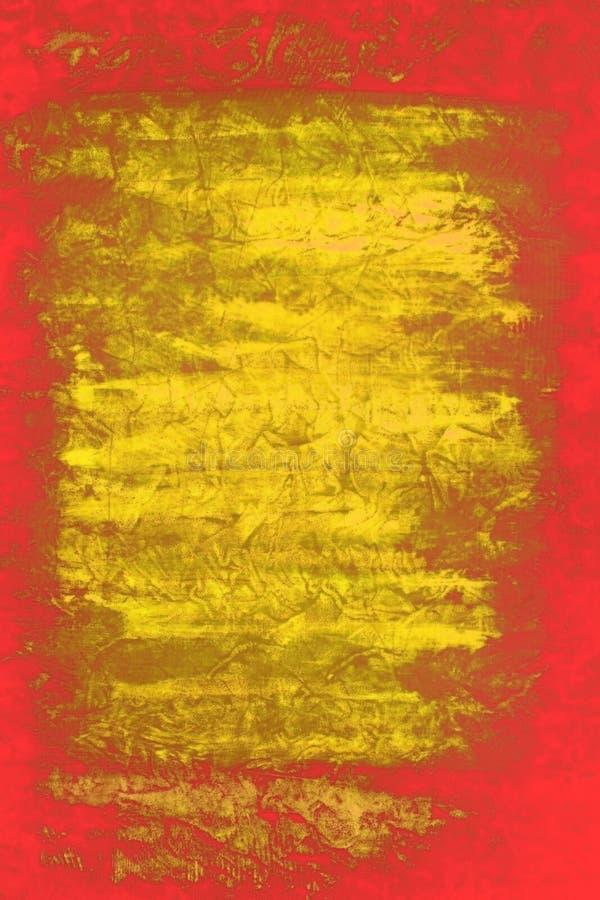 abstrakcjonistyczny czerwony kolor żółty ilustracja wektor