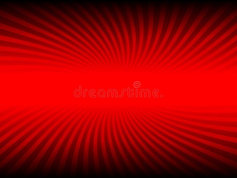Abstrakcjonistyczny czerwony kolor i kreskowy skręta tło ilustracja wektor