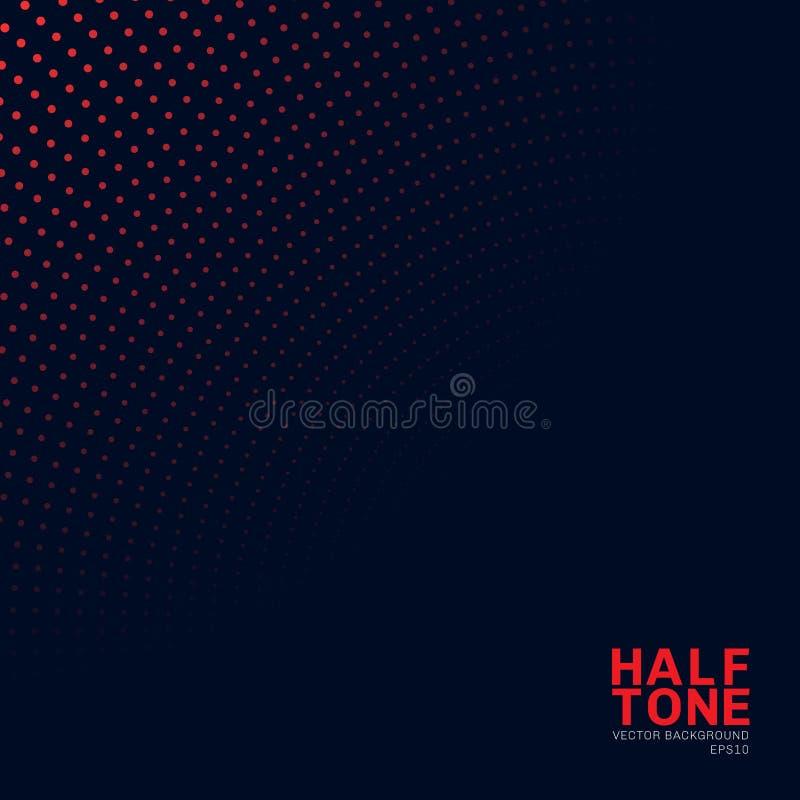 Abstrakcjonistyczny czerwony neonowy koloru halftone wz ilustracja wektor