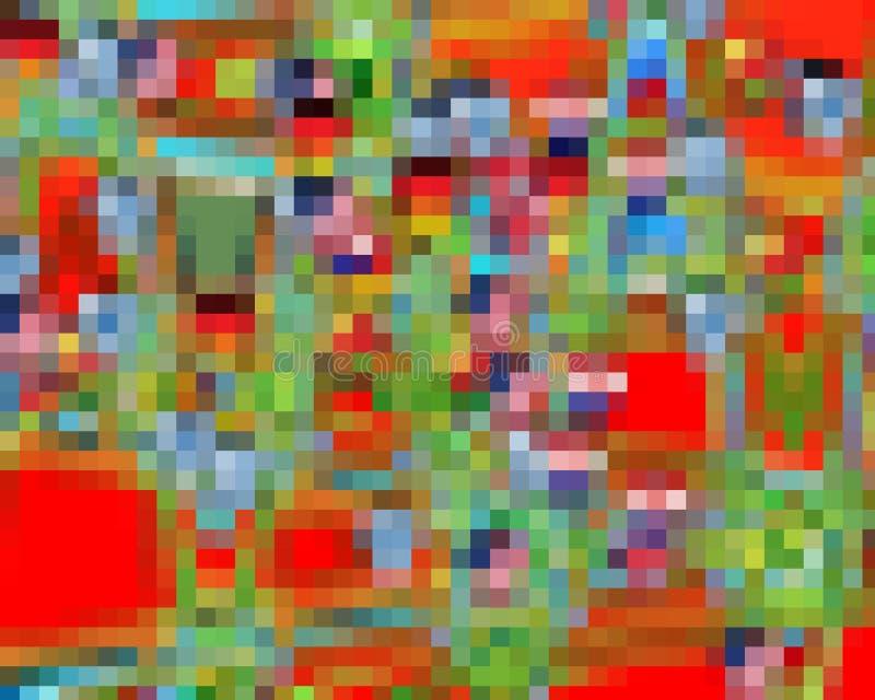 Abstrakcjonistyczny czerwony pomarańczowy błękit obciosuje grafika, geometrie, tło i teksturę, royalty ilustracja