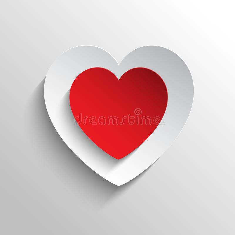 Abstrakcjonistyczny czerwony serce projekt z unikalną i zadziwiającą ilustracją ilustracja wektor