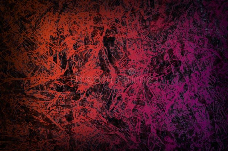 Abstrakcjonistyczny czerwony tła lub zmroku papier z jaskrawym centrum spotlig ilustracji