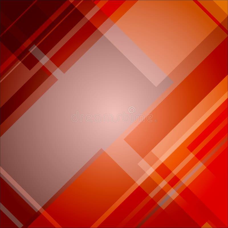 Abstrakcjonistyczny czerwony techniczny tło ilustracja wektor