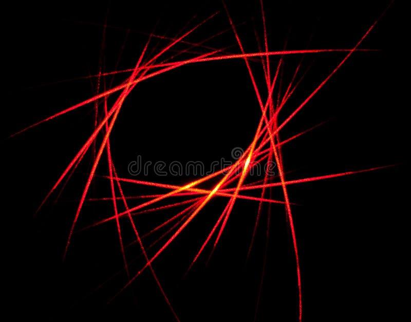 Abstrakcjonistyczny czerwony wiązka laserowa wzór obraz stock