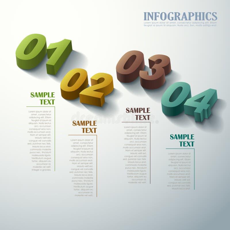 Abstrakcjonistyczny 3d infographics royalty ilustracja