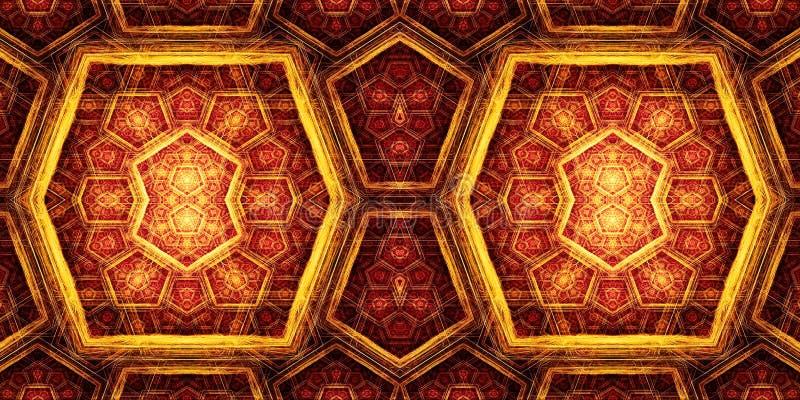 Abstrakcjonistyczny 3d komputer wytwarzał kolorową pudełek fractals wzorów grafikę royalty ilustracja
