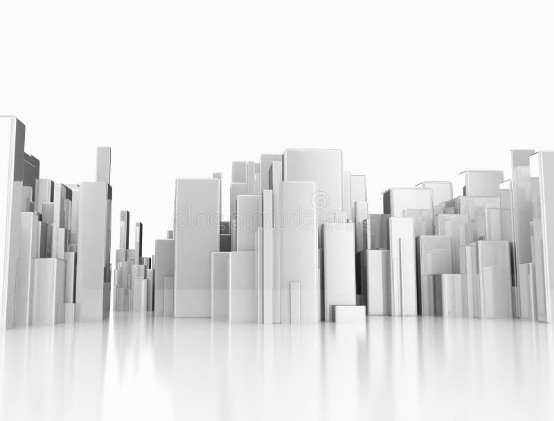 Abstrakcjonistyczny 3D miasto ilustracja wektor