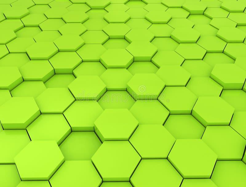 Abstrakcjonistyczny 3d rendering futurystyczna powierzchnia ilustracja wektor