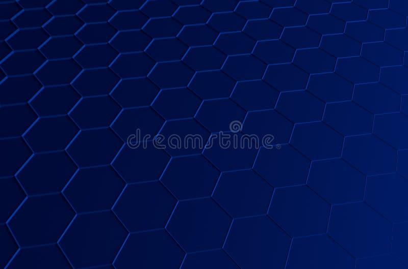 Abstrakcjonistyczny 3d rendering futurystyczna powierzchnia z royalty ilustracja