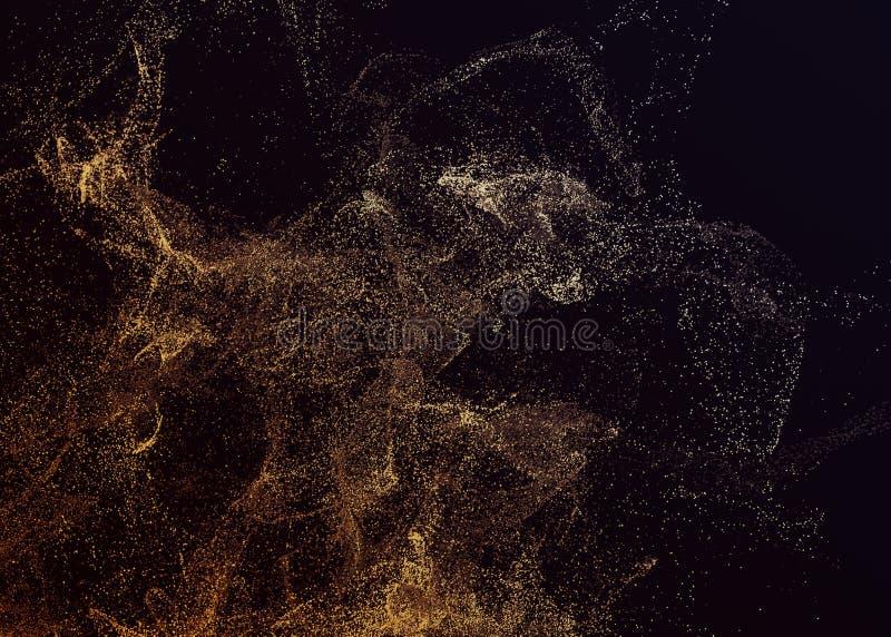 Abstrakcjonistyczny 3D rendering Latające cząsteczki royalty ilustracja