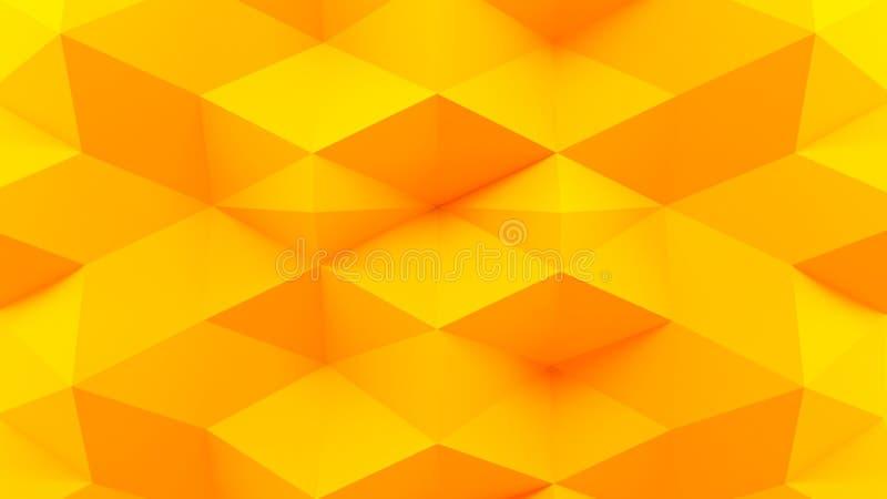 Abstrakcjonistyczny 3D renderingu koloru żółtego tło ilustracji
