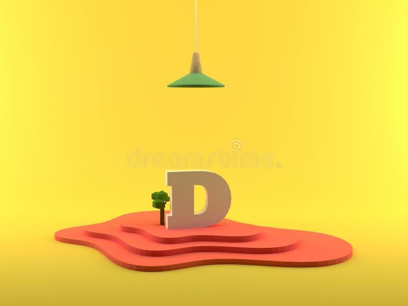 Abstrakcjonistyczny 3D renderingu listu d ilustracji