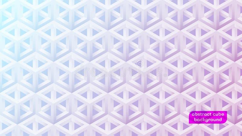 Abstrakcjonistyczny 3D sześcianu gradientu tło ilustracja wektor