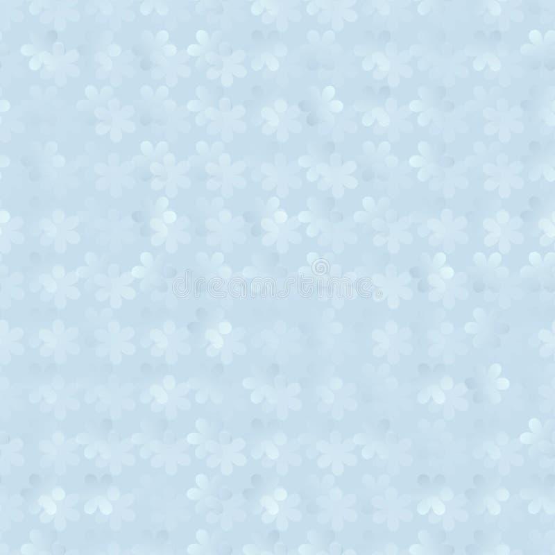 Abstrakcjonistyczny 3d tło bezszwowy kwiecisty wzór royalty ilustracja