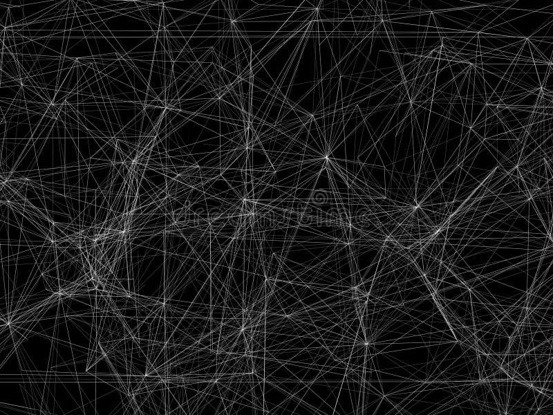 Abstrakcjonistyczny 3d tło, biała ramy siatka royalty ilustracja