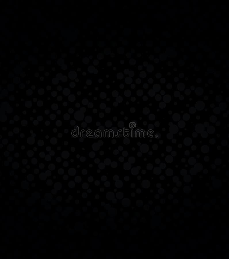 Abstrakcjonistyczny dalmatian wzór, czerni kropki na białym tle druk Chaotyczni mali czarni okręgi, monochrom ilustracja wektor