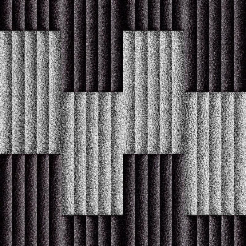 Abstrakcjonistyczny dekoracyjny kasetonuje leatherette - bezszwowy tło - ilustracji