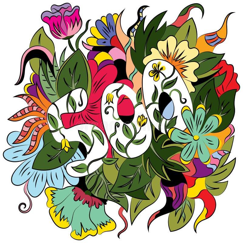 Abstrakcjonistyczny delikatny tło z kwiatu tematem Mi?kcy cienie Ilustracja z liczbą 500, abstrakcjonistyczne grafika dla kart royalty ilustracja