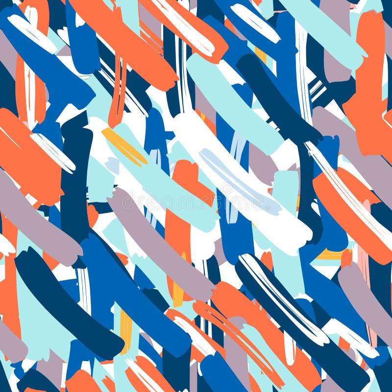 abstrakcjonistyczny deseniowy bezszwowy wektor Kreatywnie tło z geometrycznymi postaciami royalty ilustracja