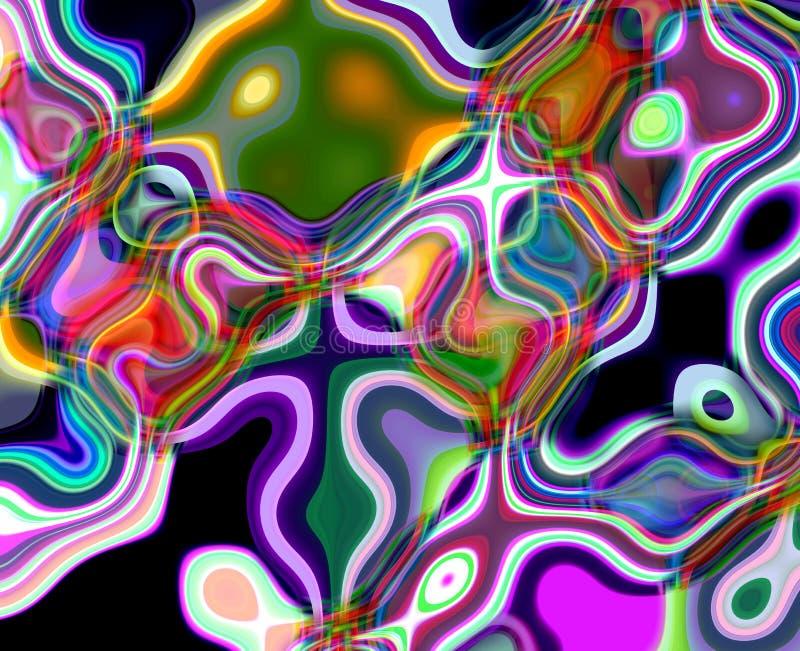 Abstrakcjonistyczny diamentowy fluid zaświeca geometrie, tło i teksturę, royalty ilustracja