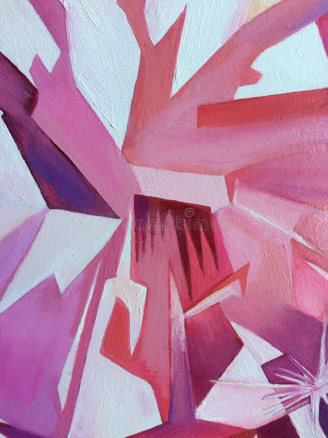 Abstrakcjonistyczny diamentowy obrazu olejnego tło ilustracja wektor