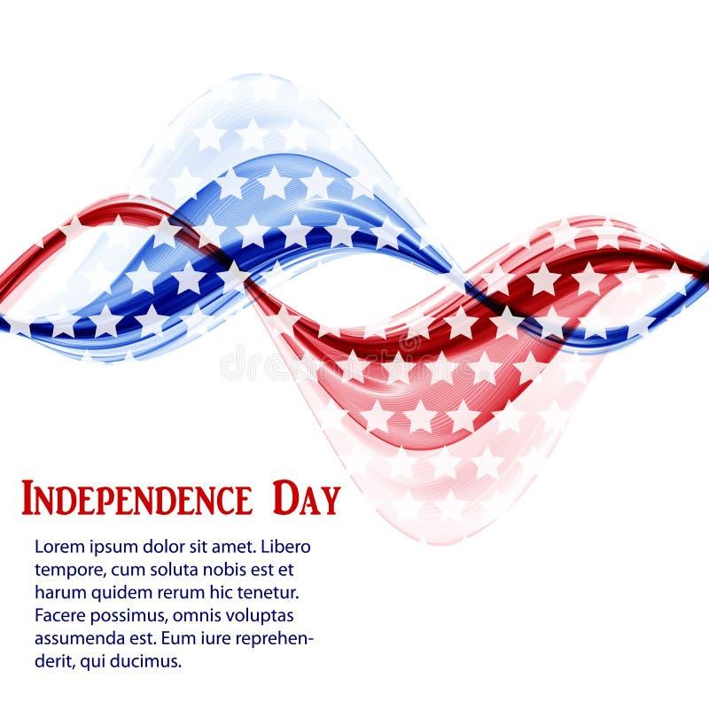 Abstrakcjonistyczny dnia niepodległości tło w usa flagi kolorach royalty ilustracja