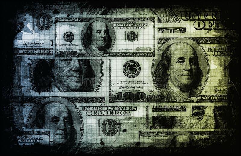 abstrakcjonistyczny dolar my ilustracja wektor