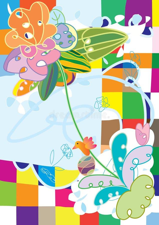 abstrakcjonistyczny doodle eps odczucia kwiat ilustracja wektor
