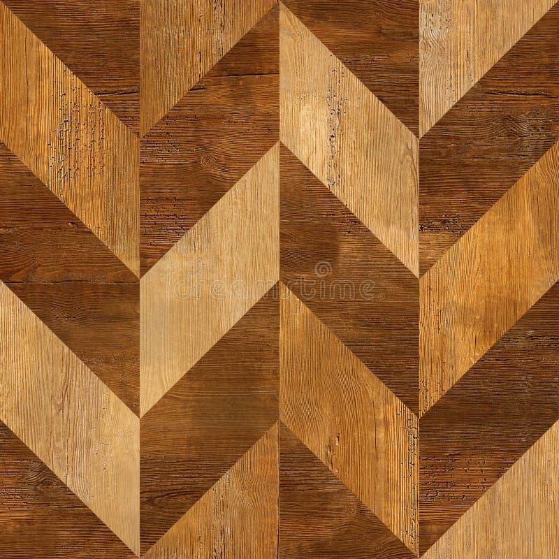 Abstrakcjonistyczny drewniany kasetonuje wzór drewno - bezszwowy tło - royalty ilustracja