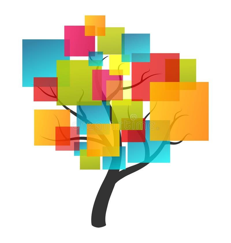Abstrakcjonistyczny drzewny logo ilustracja wektor
