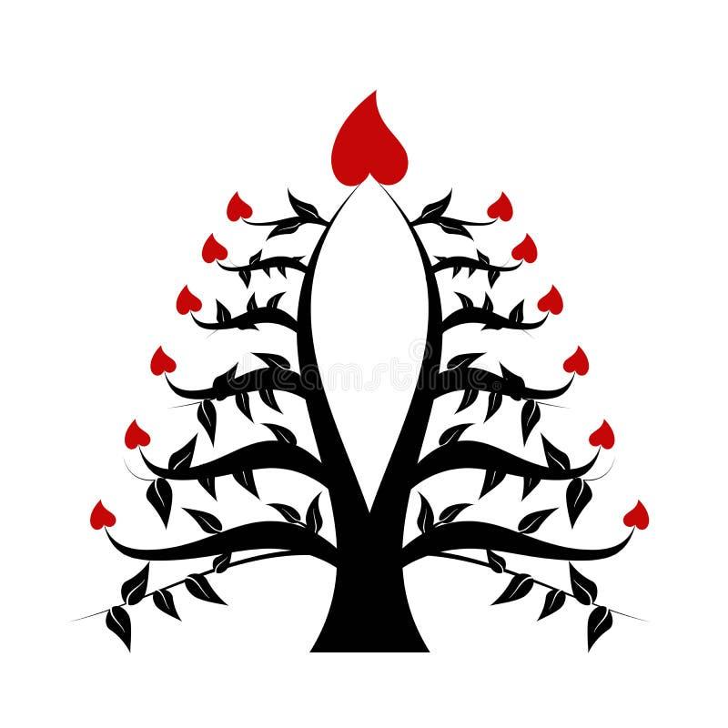 abstrakcjonistyczny drzewo royalty ilustracja