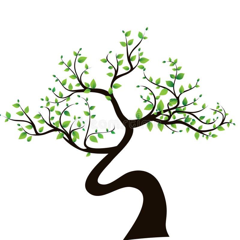 Abstrakcjonistyczny drzewo, symbol natura ilustracja wektor