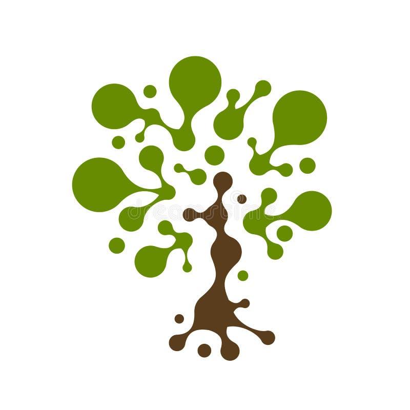 Abstrakcjonistyczny drzewo z okrąg ramami dla twój projekta royalty ilustracja