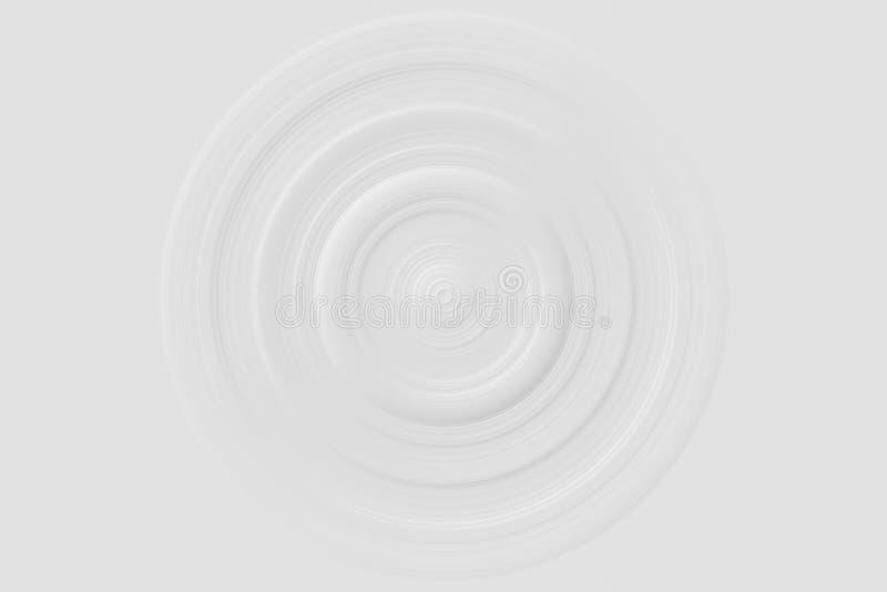 Abstrakcjonistyczny dynamiczny szarość okręgu wir na białym tle ilustracja wektor