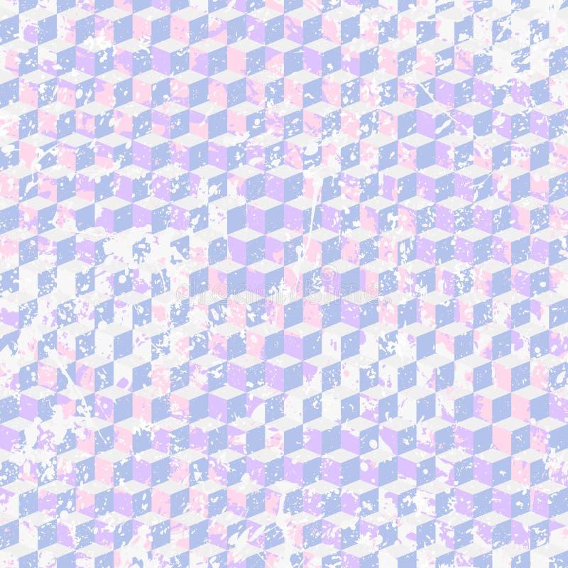 Abstrakcjonistyczny dynamiczny techno tło z farby splatter i pluśnięciem royalty ilustracja