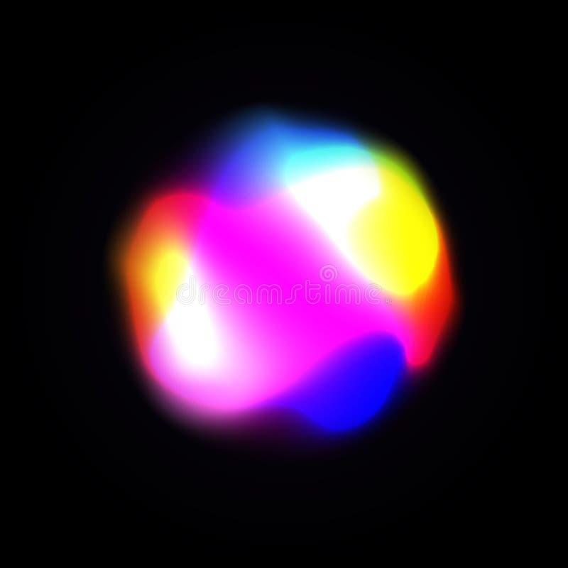 Abstrakcjonistyczny energetyczny wektorowy tło z rozjarzonym lekkim skutkiem Władzy energia, świecący olśniewający pozaziemscy św ilustracja wektor