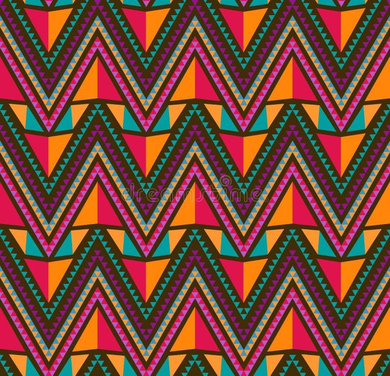 abstrakcjonistyczny etniczny geometryczny deseniowy bezszwowy ilustracja wektor
