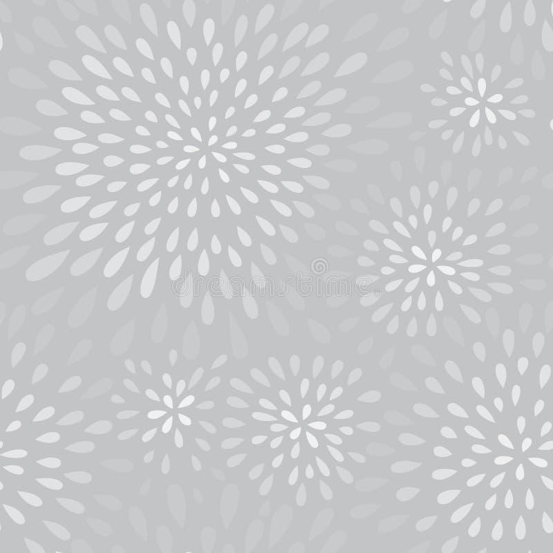 Abstrakcjonistyczny fajerwerku pluśnięcia kropki wzór Zawijasa płatka kwiecista tekstura ilustracja wektor