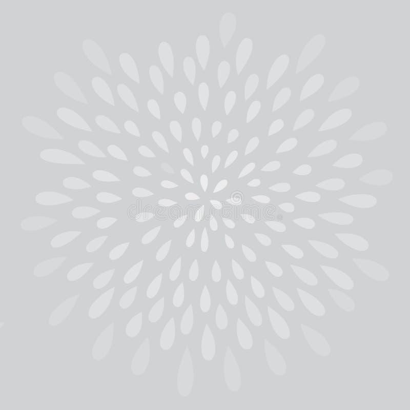 Abstrakcjonistyczny fajerwerku pluśnięcia kropki wzór Zawijasa płatka kwiecista tekstura royalty ilustracja