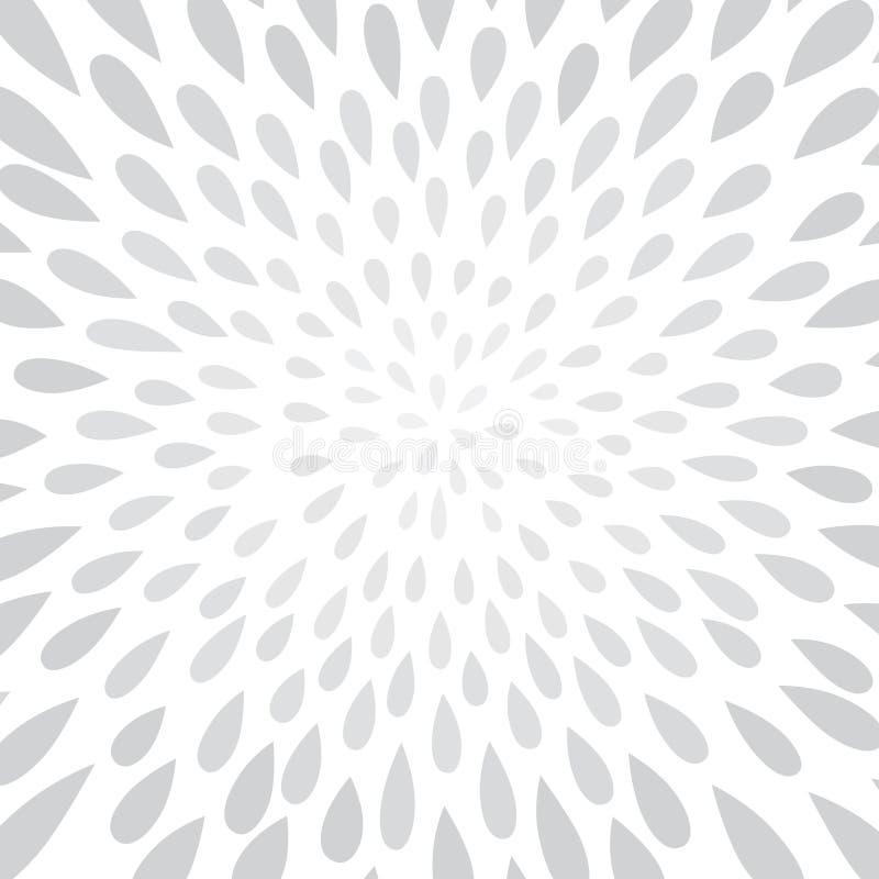 Abstrakcjonistyczny fajerwerku pluśnięcia kropki wzór Zawijasa płatka kwiecisty textur royalty ilustracja