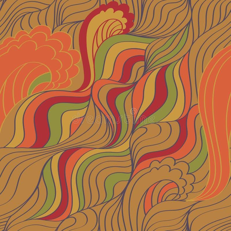Abstrakcjonistyczny fala tło ilustracja wektor