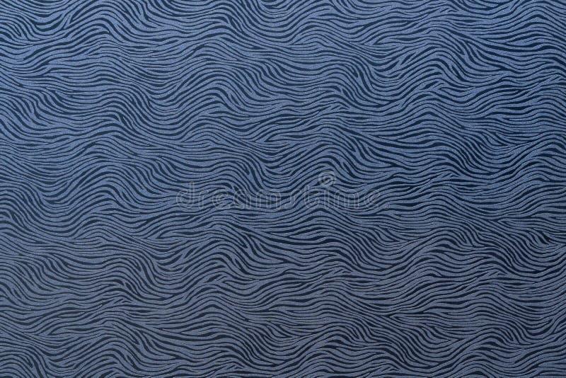 Abstrakcjonistyczny falisty wzór w błękitnych szarość zdjęcia stock