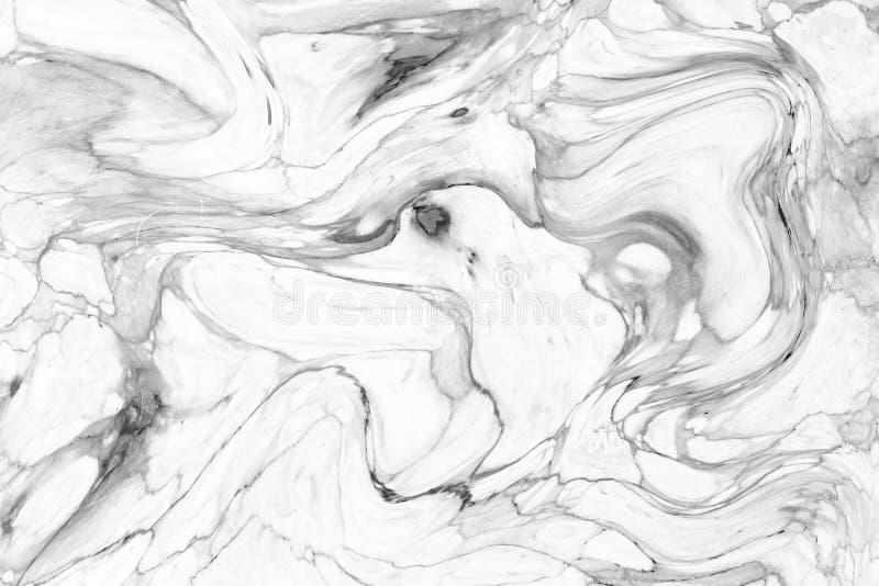 Abstrakcjonistyczny falowy wzór, Białe szarość wykłada marmurem atrament tekstury tło zdjęcie royalty free