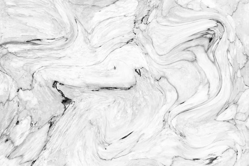 Abstrakcjonistyczny falowy wzór, Białe szarość wykłada marmurem atrament tekstury tło dla tapety lub skóry ściany płytki dla wewn obrazy stock