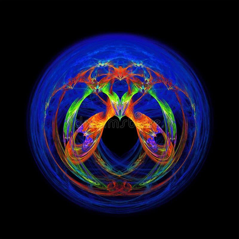 Abstrakcjonistyczny fantazja wzór, fractal ilustracja royalty ilustracja