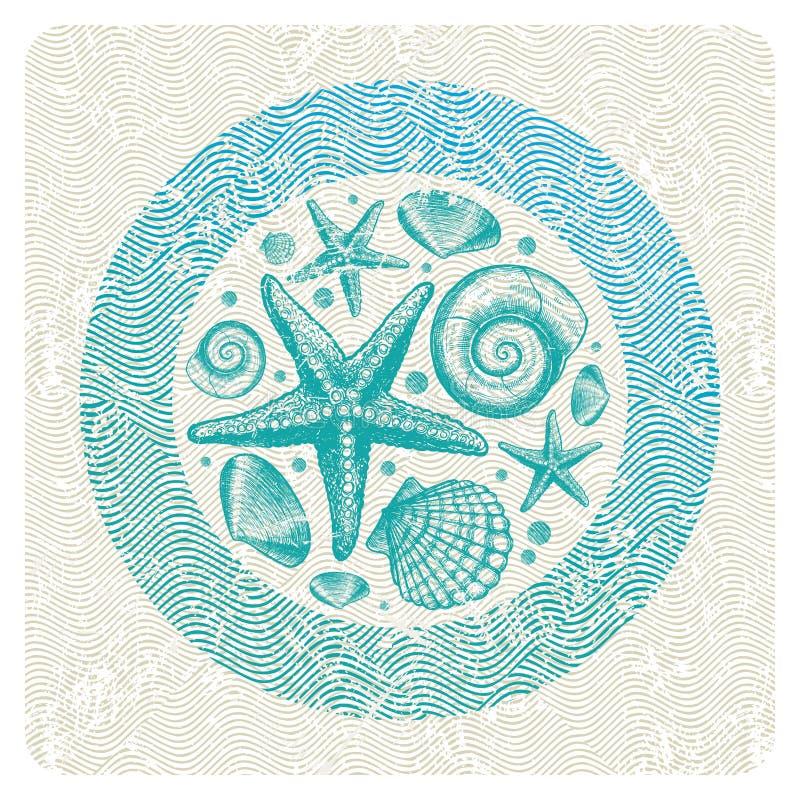 Download Abstrakcjonistyczny Faun Ilustraci Morze Ilustracji - Obraz: 16091158