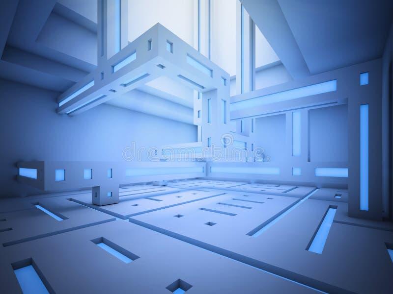 abstrakcjonistyczny fi wnętrza sci ilustracja wektor