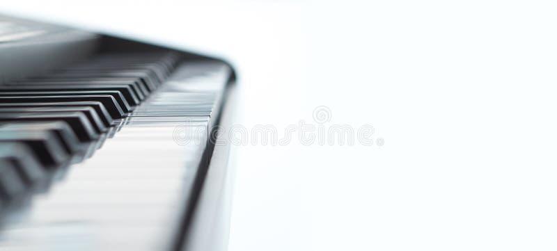 Abstrakcjonistyczny fortepianowy tło odizolowywający na bielu zdjęcia royalty free
